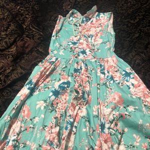 Voodoo Vixen Floral Retro-inspired Dress